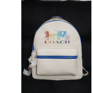 COACH Charlie Backpack 2500 Rainbow Horse Carriage